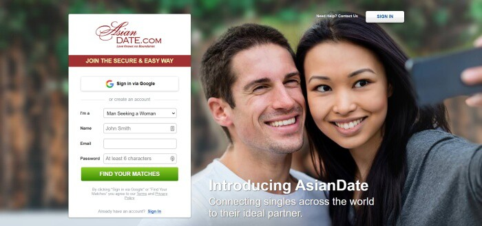 find your asian date