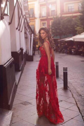 long red dress outfit