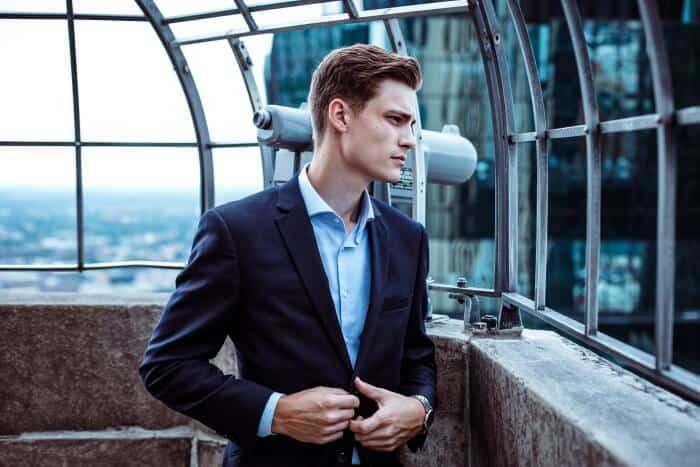 man wearing a blazer