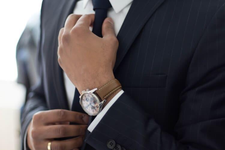 pinstripe suit for men