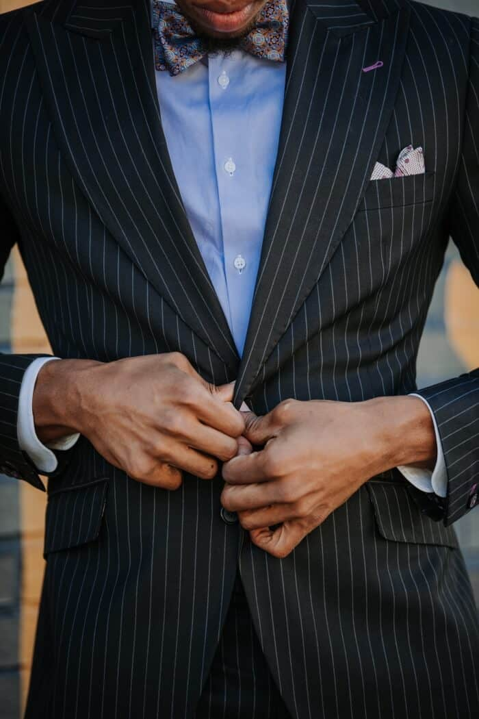 pinstripe suit style